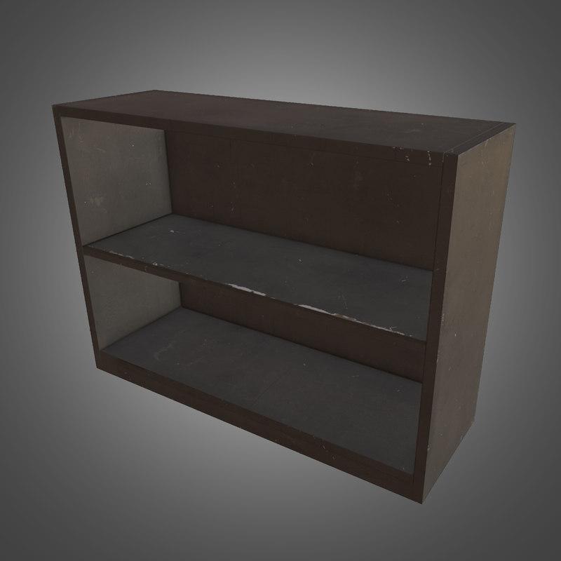 3ds max metal shelf - ready