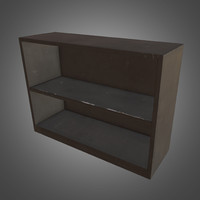3ds max metal shelf - ready