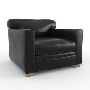 3ds max ecart armchair jean michele