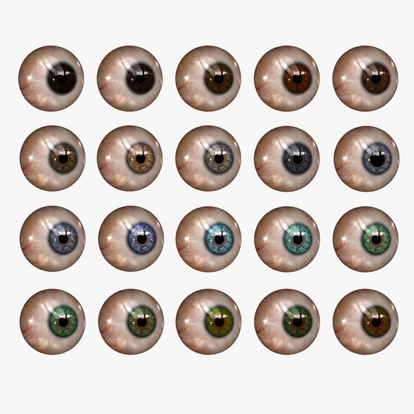 realistic human eye 20 3d model