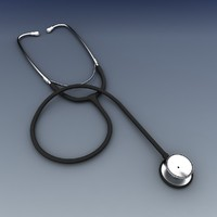 3d stethoscope model