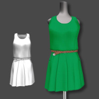 dress belted 3d 3ds