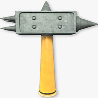 hammer weapon 3d c4d