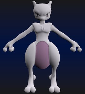 3d model mewtwo