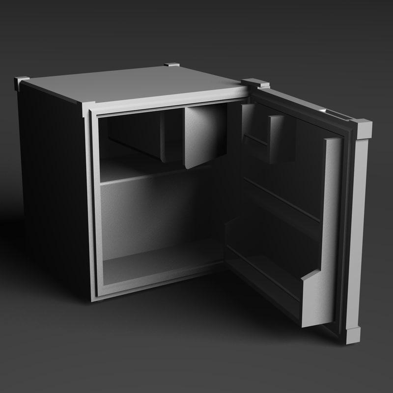 3d mini fridge