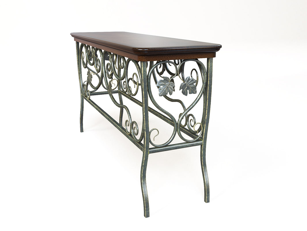 3d model of wrought iron table