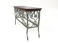 table of wrought iron