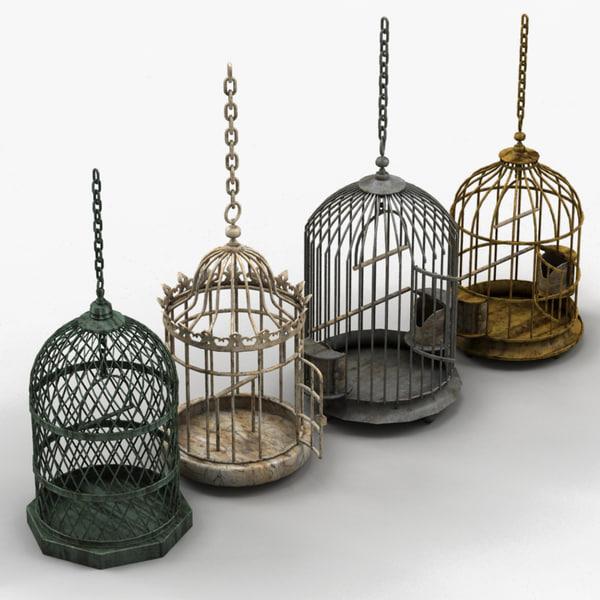 birdcages decorations 3d model
