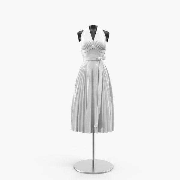 3d marilyn monroe s dress