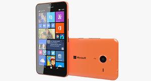 3d microsoft lumia 640 xl model