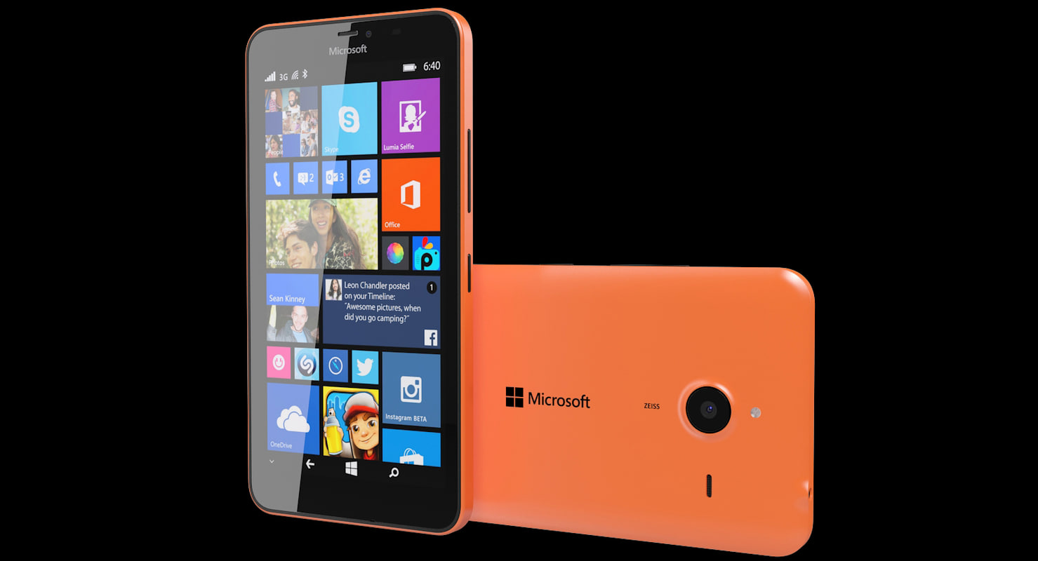 3d microsoft lumia 640 xl model