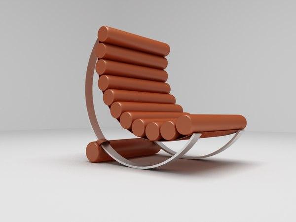 modern hammock chair 3d model