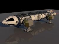 c4d spaceship cosmos 1999