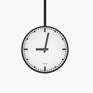 3d model clock central