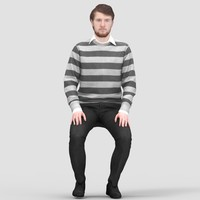 James Casual Sitting 2 - 3D Human Model