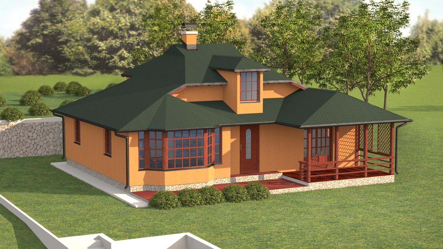 3d house living room model