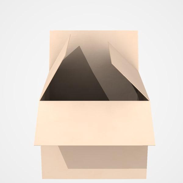 3d model carton box