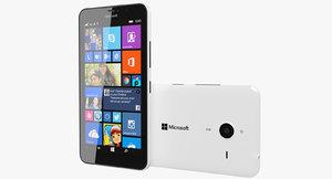 3d model microsoft lumia 640 xl