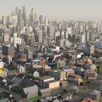 3d organically city model