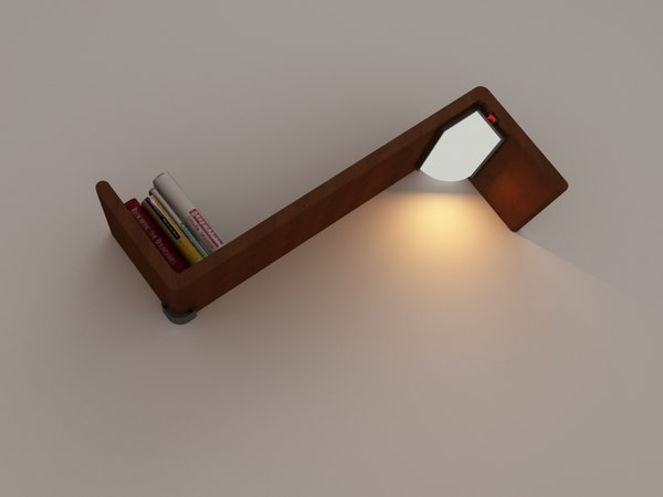 books shelve bed 3d max