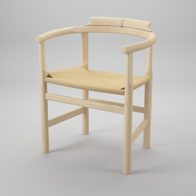 pp 62 chair hans j 3d 3ds