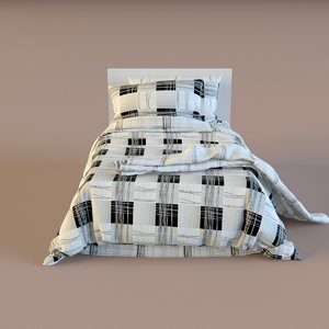 3d model of children bed linen