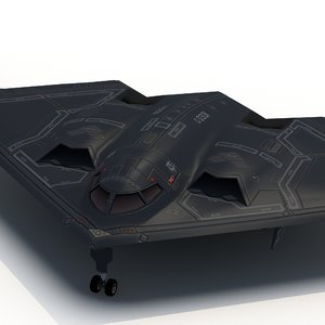 3d model b2a stealth bomber spirit