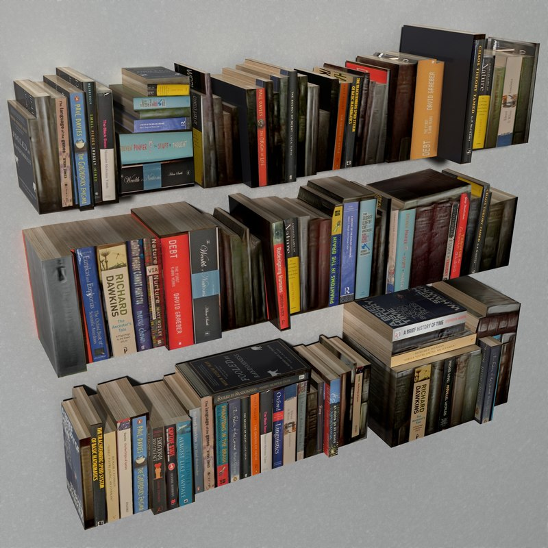 3d model books library office