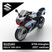 3d model of 2014 suzuki gsx-r 1000