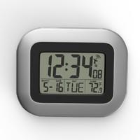 3d modern wall digital clock model