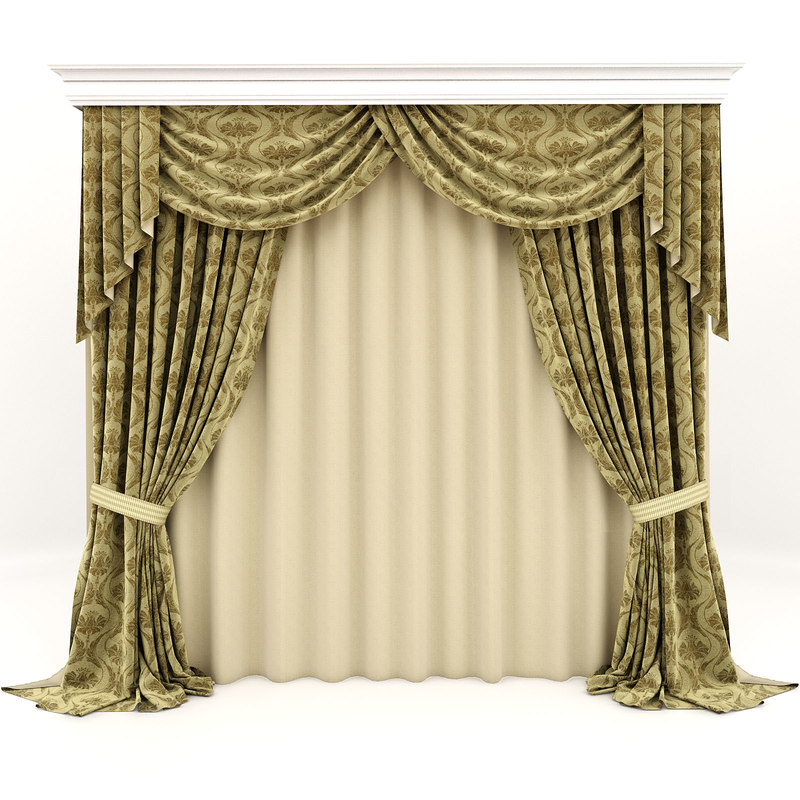 classic curtains 3d max