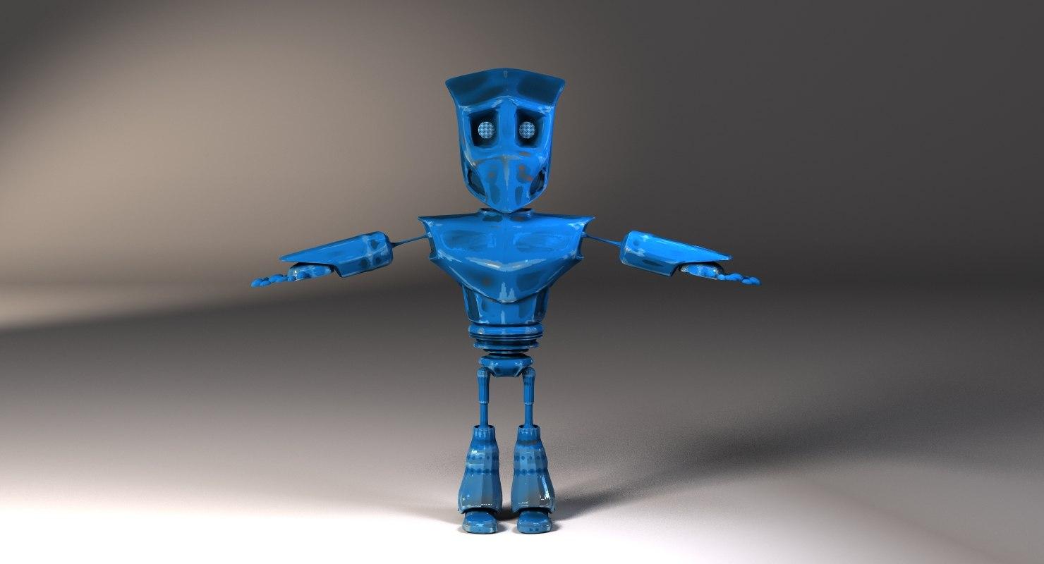 free robot rigged lightwave 3d model