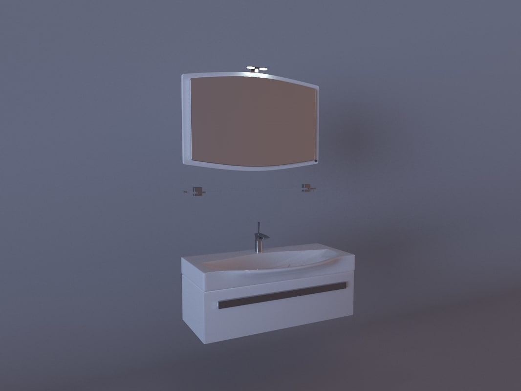 free bathroom furniture 3d model