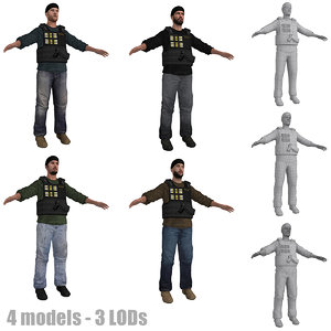 3d dea agent lod s model
