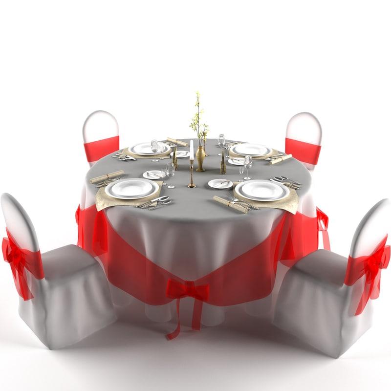 wedding table 3d model