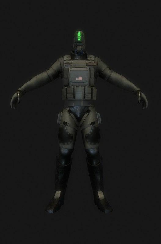soldier future 3d model