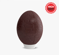 chocolate egg 3d max