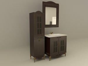 bathroom furniture verona 3d model