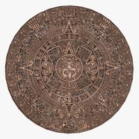 aztec calendar obj