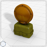 3d barricade flasher model