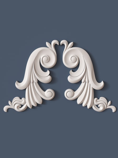 decorative scroll 3d model