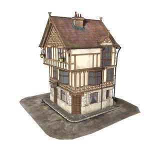 medieval house 3d model