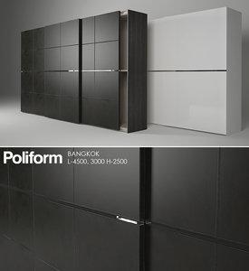 3d model wardrobe poliform bangkok