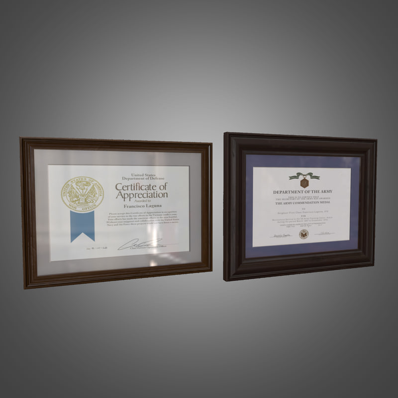 picture frames - ready 3d model