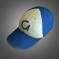 3d baseball hat - ready model
