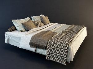 linen beds 3d model