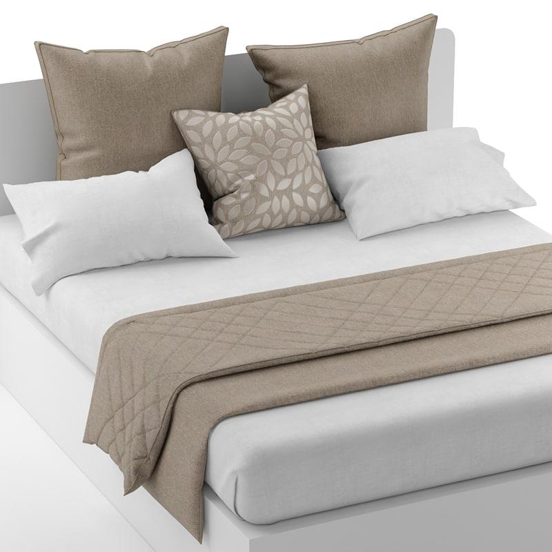 3d model bedding pillows sheet