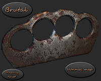 brass knuckles realistic 3ds