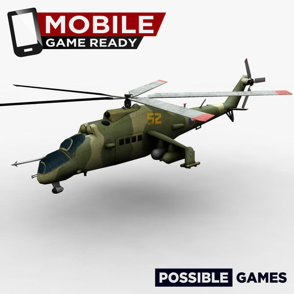 3d russian military helicopter ready