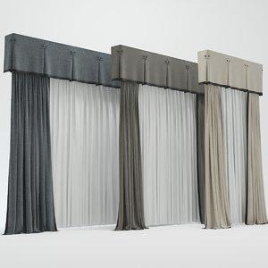3d curtain model